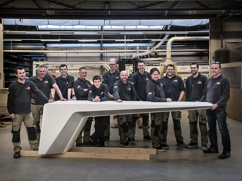 Feijen SP team, CNC milling, wood custom products.